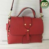 Les plus défunts modèles élégants ont clouté des sacs à main de cuir véritable pour l'Emg4821 des femmes