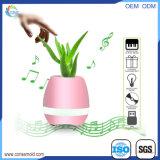 スマートな音楽植木鉢のLEDが付いているプラスチックBluetoothのスピーカーの植木鉢