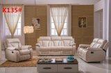 Modernes Recliner-Sofa mit dem echtes Leder-Sofa eingestellt für Wohnzimmer-Sofa