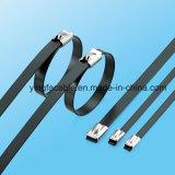 Strichleiter-multi Widerhaken-Verschluss-Typ Kurbelgehäuse-Belüftung gesprühter Edelstahl-Kabelbinder