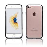 C&T effacent le cas de butoir arrière de couverture d'absorption de choc de modèle du cas TPU de téléphone cellulaire de panneau de PC dur pour l'iPhone 7