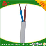 H05VVH2-F 2 * 0.75mm2 alambre de cobre puro de PVC recubierto de alambre plano