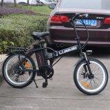 전기 자전거는 2017년 Ys 휴대용 지능적인 폴딩 전기 자전거를 모든 지형 250W 36V E 자전거 착색한다