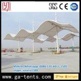 Tente d'ombrage de forme d'onde de structure métallique pour la station service de gaz