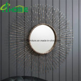 Art décoratif neuf de miroir de mur de fer travaillé en métal