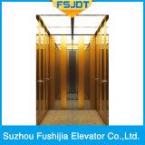 Elevador Ti-Chapeado do elevador da casa de campo de Fushijia do aço inoxidável da linha fina