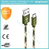 Il più velocemente cavo di alluminio di nylon Braided del USB del caricatore di dati di 1m per il telefono di Samsung