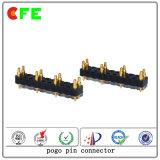 Connettore di Pin di Pogo del TUFFO di riga 10pin del doppio del connettore di batteria
