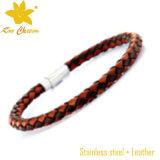 Braceletes do couro do Mens do punho da seta Stlb-026 com encantos