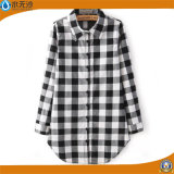 OEM da fábrica 2017 blusas longas da forma das camisas da blusa das senhoras da mola