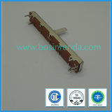 el recorrido de 30m m estéreo se dobla el potenciómetro B10k, B100k de la diapositiva, para el amplificador, mezclador