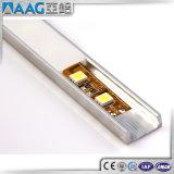 Tipo plano aluminio del perfil V de aluminio de aluminio de la luz de tira del perfil LED del LED del carril