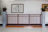 Balcón de acero galvanizado decorativo de alta calidad 24 que cerca con barandilla de la aleación de Haohan Alluminum