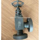 Hochdruck1500lb schmiedete Stahlwinkel-Typen Flansch-Kugel-Ventil