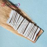 Trama della pelle del commercio all'ingrosso dei capelli umani del nastro di Remy del fornitore dell'oro della Cina