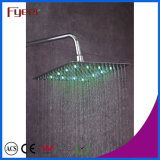 A cor magro do Faucet do banheiro da cabeça de chuveiro da precipitação do diodo emissor de luz de Fyeer mudou pela temperatura de água