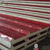 防音の熱によって絶縁されるPU/Polyurethaneサンドイッチパネルの建築材料