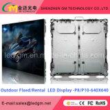 Heiße Verkaufs-Schwachstrom-Verbrauch P10 LED-Bildschirmanzeige für das Bekanntmachen