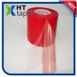 El doble echó a un lado cinta roja del trazador de líneas de la película clara adhesiva de acrílico del animal doméstico