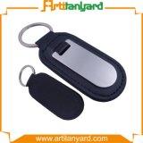 trousseau de clés de cuir de porte-clés en métal de cadeau de promotion