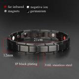 Qualitäts-männliches Edelstahl-Armband mit dem schwarzen Schwein überzogen