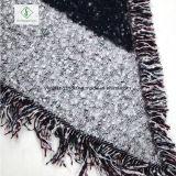 Signora calda Fashion Scarf del grande plaid della nappa di colore di Contrat dello scialle del cachemire