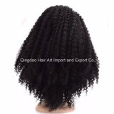 Cabelo de Remy humano de alta qualidade peruca de renda cheia encaracolado
