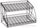 Стеллаж для выставки товаров провода черноты змейки розницы металла Space-Saving 3 полок