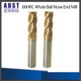 Торцевая фреза носа стального шарика вольфрама режущего инструмента 60HRC 4flute Edvt