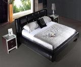 ヨーロッパ式の現代革ホーム寝室の家具のベッド