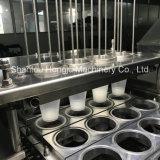 プラスチックコップのための自動フルーツの込み合いの詰物そしてシーリング機械