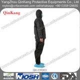 Disposate非編まれたSMSのジャンプスーツか防護服のつなぎ服