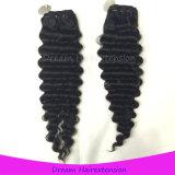 Volle Häutchen-Menschenhaar-Webart-tiefes Wellen-Kambodschaner-Haar