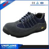 Sapatas de segurança azuis Ufa103 de Protetive do couro da camurça