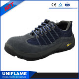 Голубые ботинки безопасности Ufa103 Protetive кожи замши