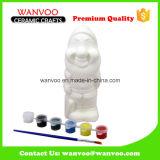 Mini Santa estatua de cerámica hueco de DIY para la decoración del regalo de Chritmas
