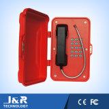 Le téléphone extérieur de combiné téléphonique, IP67 imperméabilisent le téléphone, téléphone du tunnel IP66