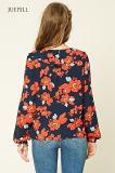 Form-Blumen-Druck-Frauen-Bluse