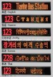 Panneau de destination de LED (dans différentes langues)