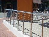 Pêche à la traîne d'acier inoxydable de /Balcony de balustrade d'escalier de pipe en acier