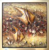 Pintura al óleo decorativa de los pescados (ADB0128)