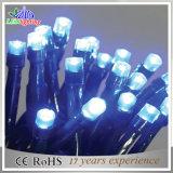 Luces de hadas del PVC del alambre LED de la decoración al aire libre negra de la Navidad