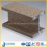 軽量の石造りの穀物の表面の建築材料のためのアルミニウム蜜蜂の巣のパネル