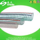 Manguera reforzada transparente de la descarga industrial del agua del alambre de acero del PVC