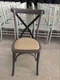 Огорченный стул задней части креста древесины бука для Rental