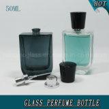 Glasspray-Flasche des duftstoff-50ml mit Gold u. schwarzer Schutzkappe