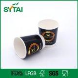 Pared doble taza de café de papel disponible caliente de 12 onzas
