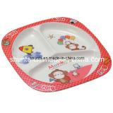 Placa 100% de 3-Divided do miúdo da louça da melamina/utensílios de mesa Food-Grade da melamina (BG803)