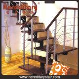 Trap van het Traliewerk van de Baluster van de Staaf van het staal de Houten voor Binnen (sj-3019)