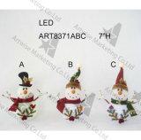 Luz de la decoración del hogar del muñeco de nieve de EVA de la luz de la Navidad, 3asst